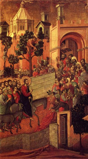 Duccio Di Buoninsegna - Maesta (Detail From The Maesta Alterpiece) (or Entry Into Jerusalem)