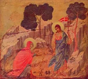 Duccio Di Buoninsegna - Christ appears Magdalena