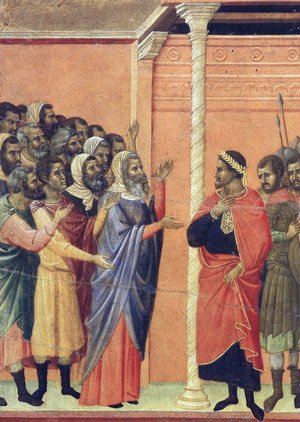 Duccio Di Buoninsegna - The high priests before Pilate