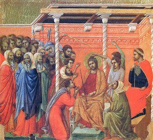Duccio Di Buoninsegna - Mockery of Christ