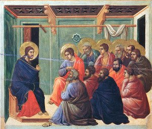Duccio Di Buoninsegna - Christ preaches the Apostles