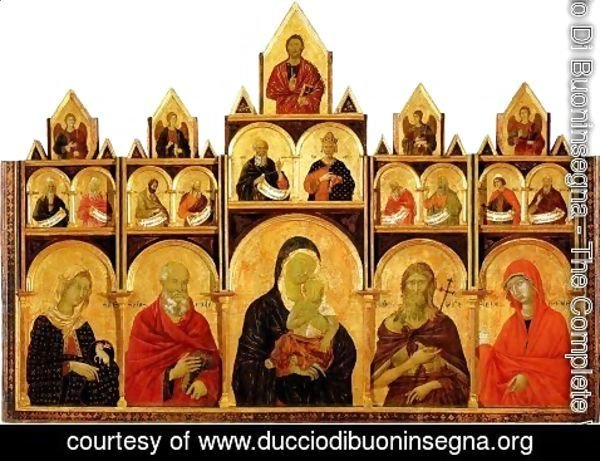 Duccio Di Buoninsegna - The Madonna and Child with Saints