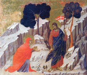 Duccio Di Buoninsegna - Christ Appearing to Mary