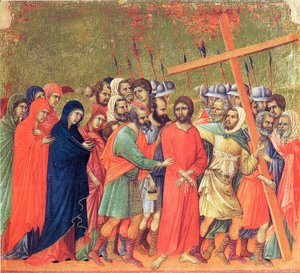 Duccio Di Buoninsegna - Carrying of the Cross