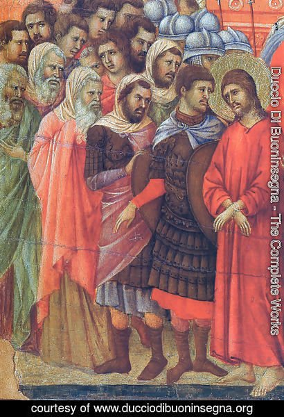 Duccio Di Buoninsegna - Pilate washes his hands
