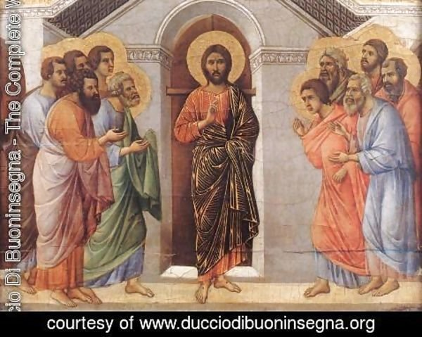 Duccio Di Buoninsegna - Appearence Behind Locked Doors 1308-11