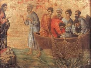 Duccio Di Buoninsegna - Appearence on Lake Tiberias 1308-11