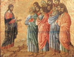 Duccio Di Buoninsegna - Appearence on the Mountain in Galilee 1308-11