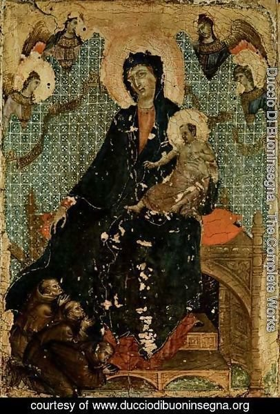 Duccio Di Buoninsegna - Madonna of the Franciscans c. 1300