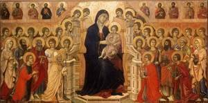 Duccio Di Buoninsegna - Maesta (Madonna with Angels and Saints) 1308-11