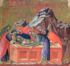 Duccio Di Buoninsegna - Burial of Christ 1308-11