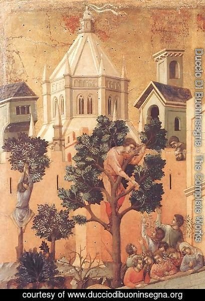 Duccio Di Buoninsegna - Entry into Jerusalem (detail) 1308-11