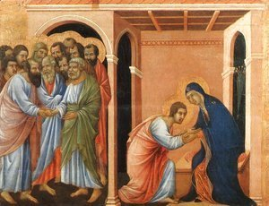 Duccio Di Buoninsegna - Parting from St John 1308-11