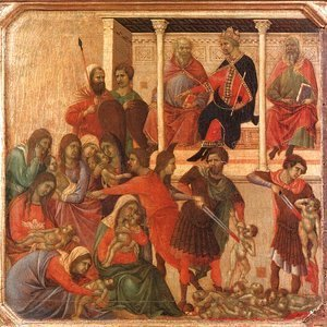 Duccio Di Buoninsegna - Slaughter of the Innocents 1308-11