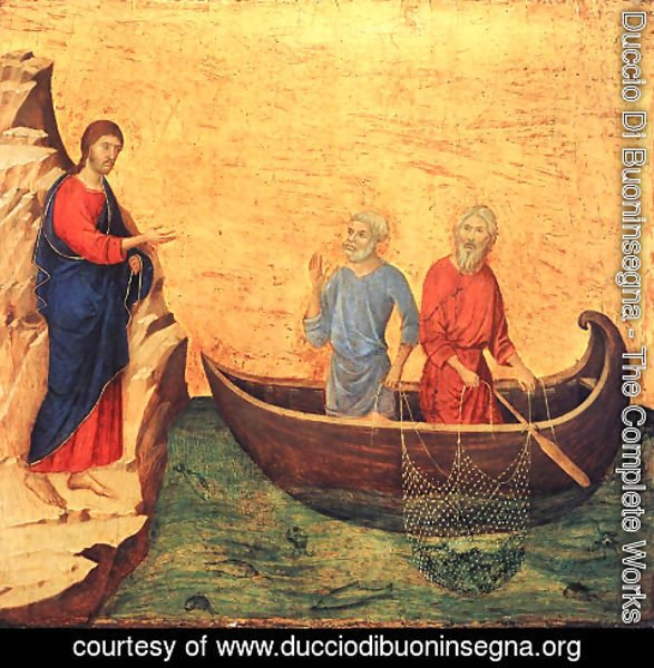 Duccio Di Buoninsegna - The Calling of the Apostles Peter and Andrew 1308-1311