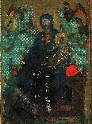Duccio Di Buoninsegna - The Madonna of the Franciscans 1287-88