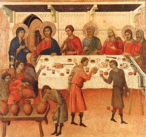 Duccio Di Buoninsegna - Wedding at Cana 1308-11