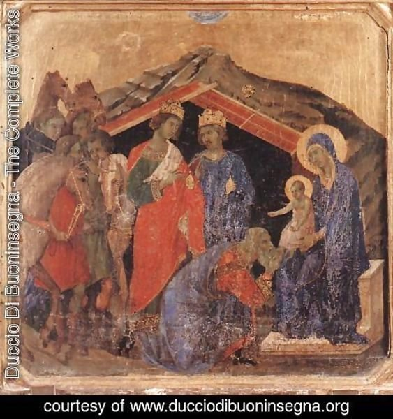 Duccio Di Buoninsegna - Adoration of the Magi 1308-11