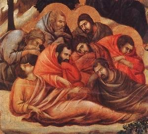 Duccio Di Buoninsegna - Agony in the Garden (detail 2) 1308-11
