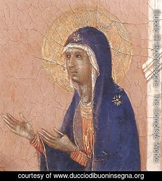 Duccio Di Buoninsegna - Announcement of Death to the Virgin (detail 1) 1308-11