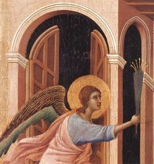 Duccio Di Buoninsegna - Announcement of Death to the Virgin (detail 2) 1308-11