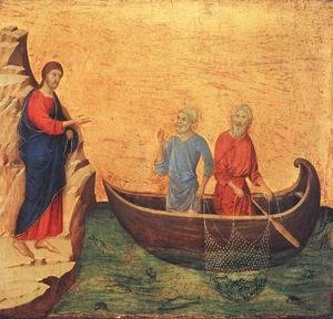 Duccio Di Buoninsegna - Calling of Peter and Andrew 1308-11