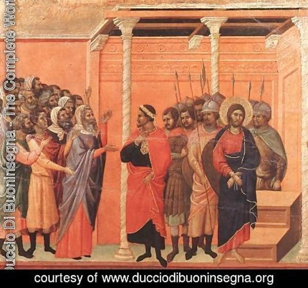 Duccio Di Buoninsegna - Christ Accused by the Pharisees 1308-11