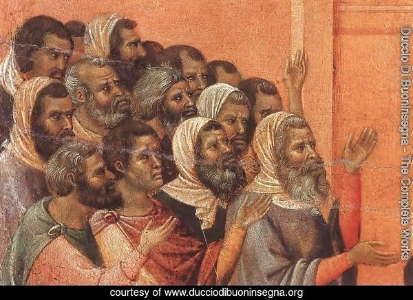Christ Accused by the Pharisees (detail) 1308-11