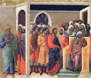 Duccio Di Buoninsegna - Christ Before Caiaphas 1308-11