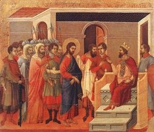 Duccio Di Buoninsegna - Christ Before Herod 1308-11