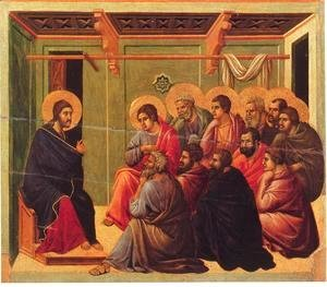Duccio Di Buoninsegna - Christ Taking Leave of the Apostles 1308-11