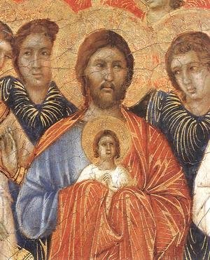 Duccio Di Buoninsegna - Death of the Virgin (detail) 1308-11