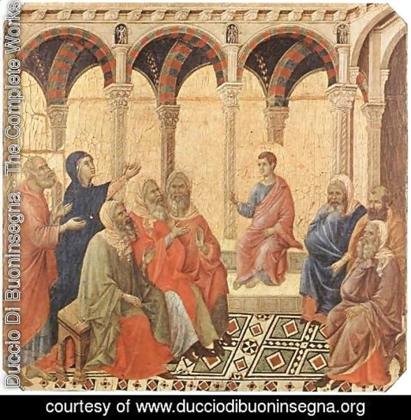 Duccio Di Buoninsegna - Disputation with the Doctors 1308-11
