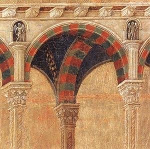 Duccio Di Buoninsegna - Disputation with the Doctors (detail) 1308-11