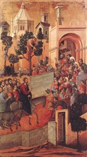 Duccio Di Buoninsegna - Entry into Jerusalem 1308-11