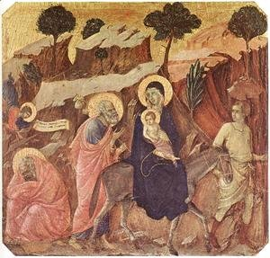 Duccio Di Buoninsegna - Flight into Egypt 1308-11