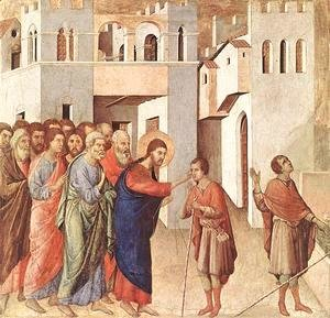Duccio Di Buoninsegna - Healing of the Blind Man 1308-11