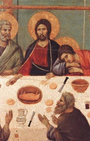 Duccio Di Buoninsegna - Last Supper (detail) 1308-11