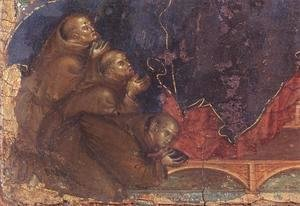 Duccio Di Buoninsegna - Madonna of the Franciscans (detail) c. 1300
