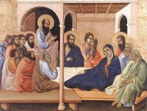 Duccio Di Buoninsegna - Parting from the Apostles 1308-11