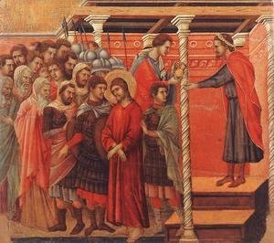 Duccio Di Buoninsegna - Pilate Washing his Hands 1308-11