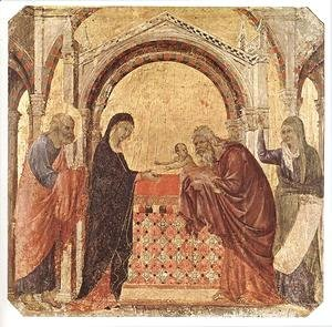 Duccio Di Buoninsegna - Presentation in the Temple 1308-11