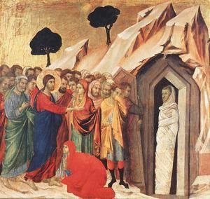 Duccio Di Buoninsegna - Resurrection of Lazarus 1308-11