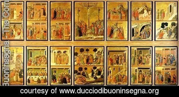 Duccio Di Buoninsegna - Stories of the Passion (Maesta, verso) 1308-11