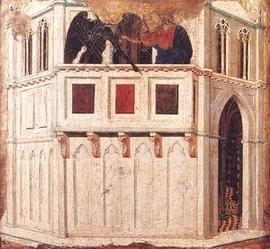 Duccio Di Buoninsegna - Temptation on the Temple 1308-11