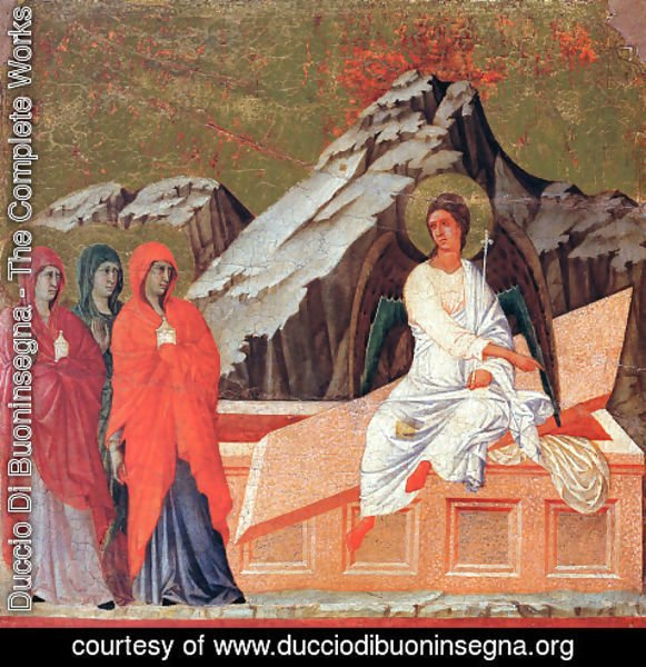 Duccio Di Buoninsegna - The Three Marys at the Tomb 1308-11