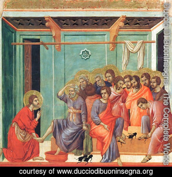 Duccio Di Buoninsegna - Washing of the Feet 1308-11