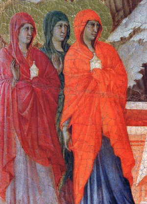 Duccio Di Buoninsegna - The Three Marys at the Tomb (detail) 1308-11